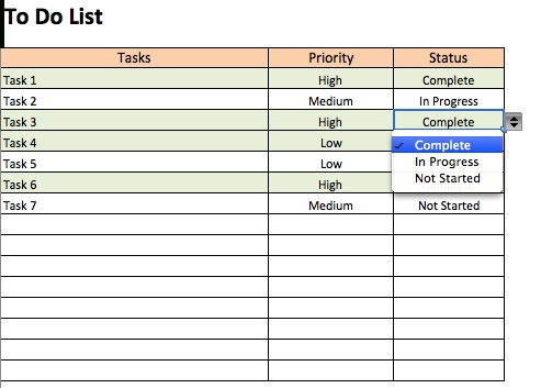 Free To Do List Templates In Excel for To Do List Template Excel 21501