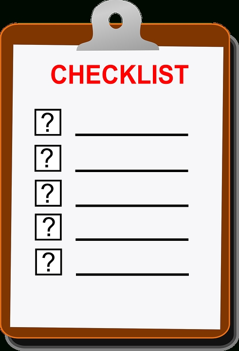 Free Vector Graphic: Checklist, Clip Board, Blank, To Do - Free throughout Blank Checklist Png 19051