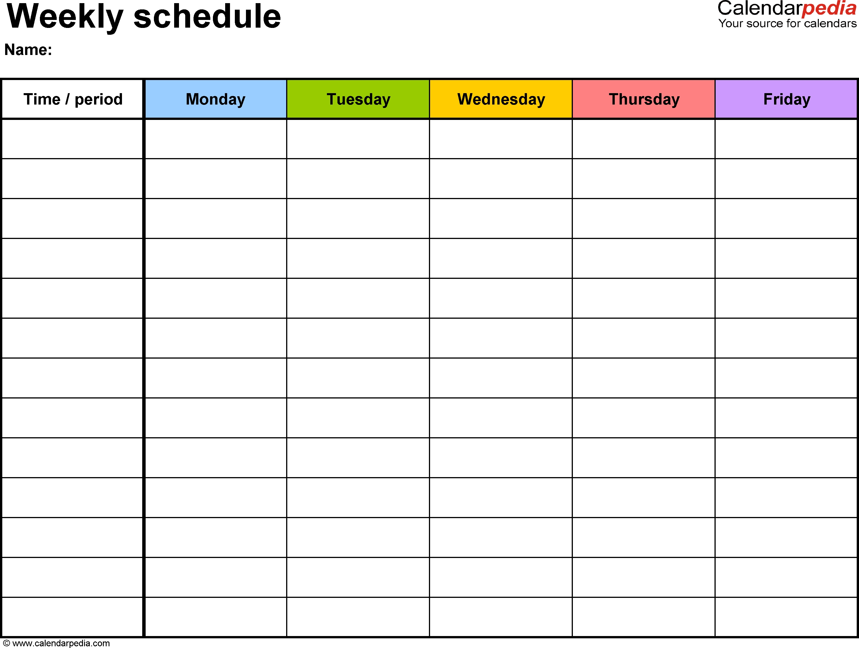 Free Weekly Schedule Templates For Excel - 18 Templates for Weekly Checklist Template Excel 24119