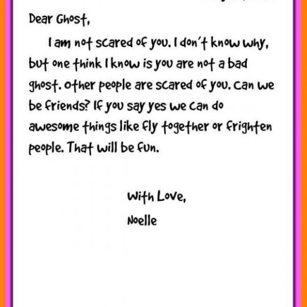Friendly Letter Example Fresh Portrayal Writing Sample 0 Throughout