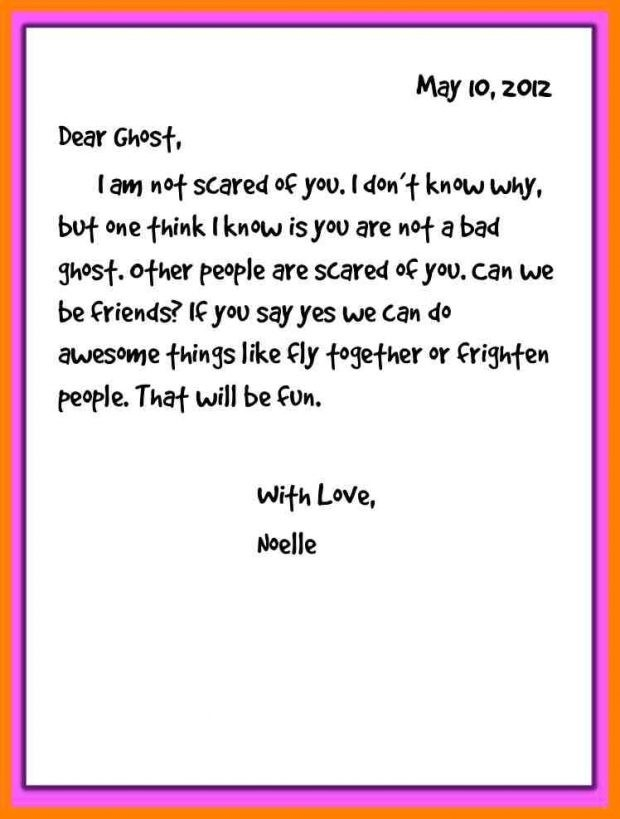 Sample Friendly Letter Writing