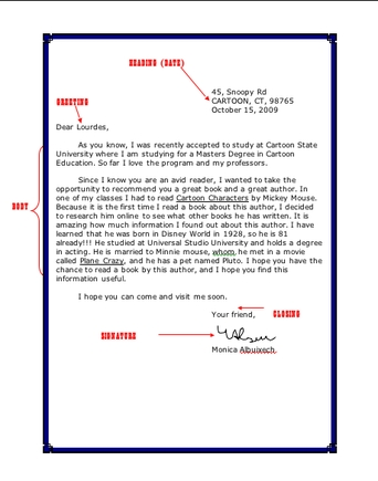Friendly Letter Format Examples - Fieldstation.co for Friendly Letter Format Pdf 20871