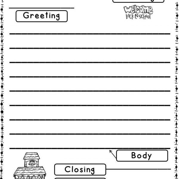 Friendly Letter Format First Grade  Theveliger Throughout Friendly