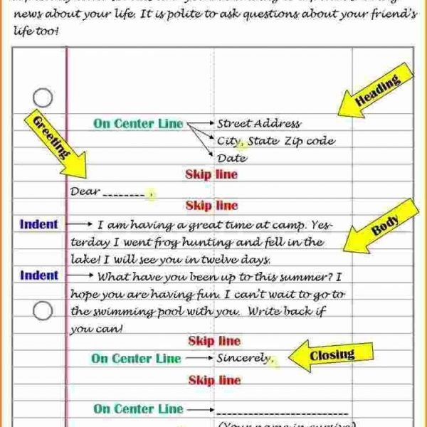 friendly letter format for kids theveliger pertaining to friendly letter format for kids
