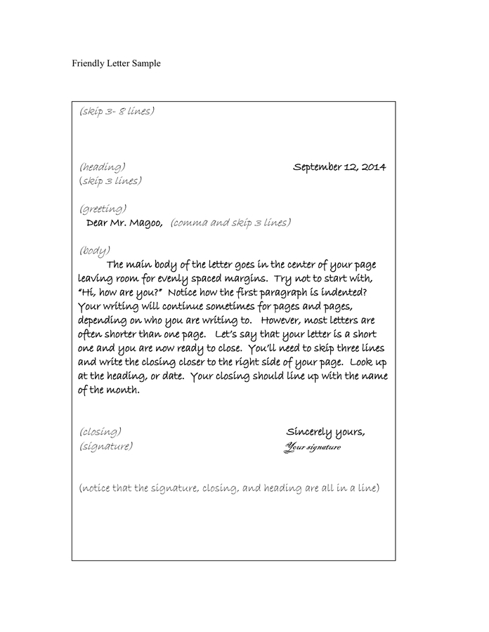 Friendly Letter Format Pdf | Templates Corner throughout Friendly Letter Format Pdf 20871