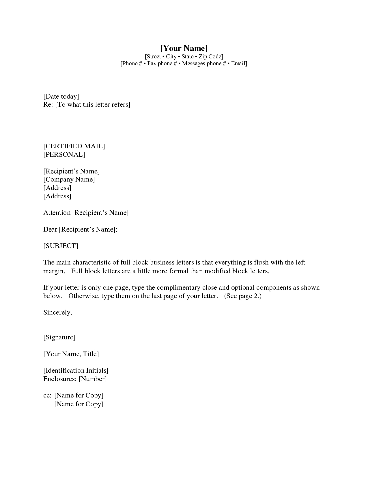 Gallery 1 Business Letter With Cc | Business Letter | Pinterest throughout Formal Business Letter Format With Enclosure 22354