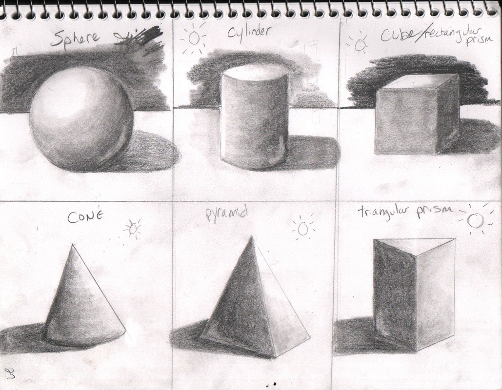 Geometric Shape Shading – Brian Cho throughout Geometric Form Drawing 23756
