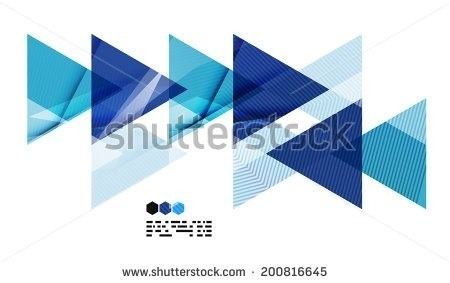 Geometric Shapes Design Blue | World Of Example in Geometric Shapes Design Blue