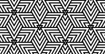 Geometric Shapes Design Black And White