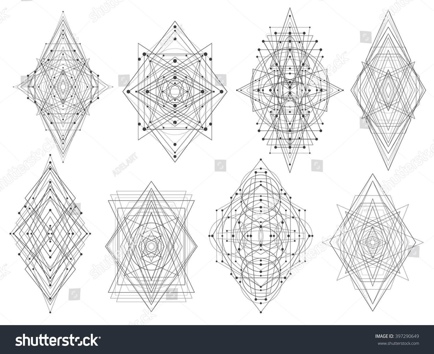 Geometric Shapes Design Tattoo | World Of Example with Geometric Shapes Design Tattoo 24513