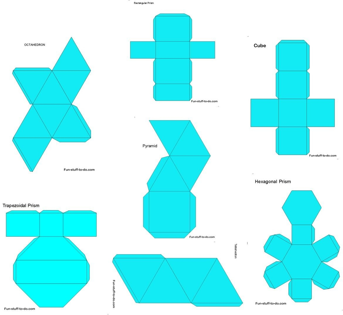 Geometric Shapes Worksheets | Free To Print with regard to 3D Geometric Shapes Templates 19493