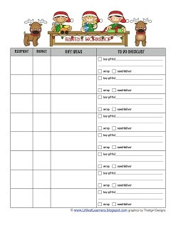 Gift Lists And Gift Ideas   Christmas Planner in Christmas Shopping List Template 22084