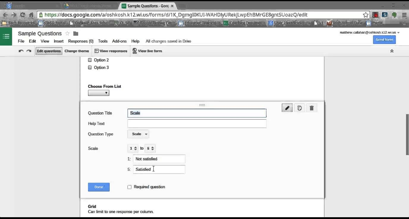 Google Form Question Examples - Youtube intended for Google Forms Examples 24673