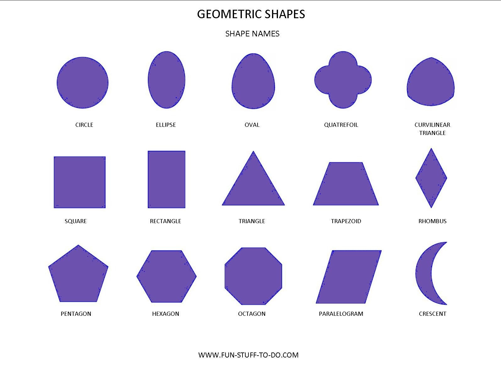 Google Image Result For Http://www.fun-Stuff-To-Do/images throughout Geometric Shapes And Names 23938