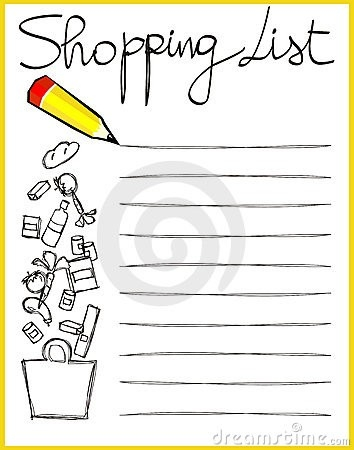 Grocery List Clipart with regard to Shopping List Clipart 20308