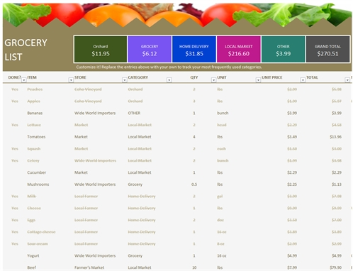 Grocery List - Office Templates in Office Shopping List Template 22114
