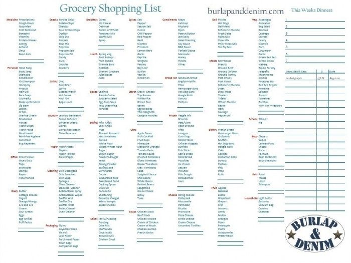 Shopping List Template With Prices  Examples And Forms