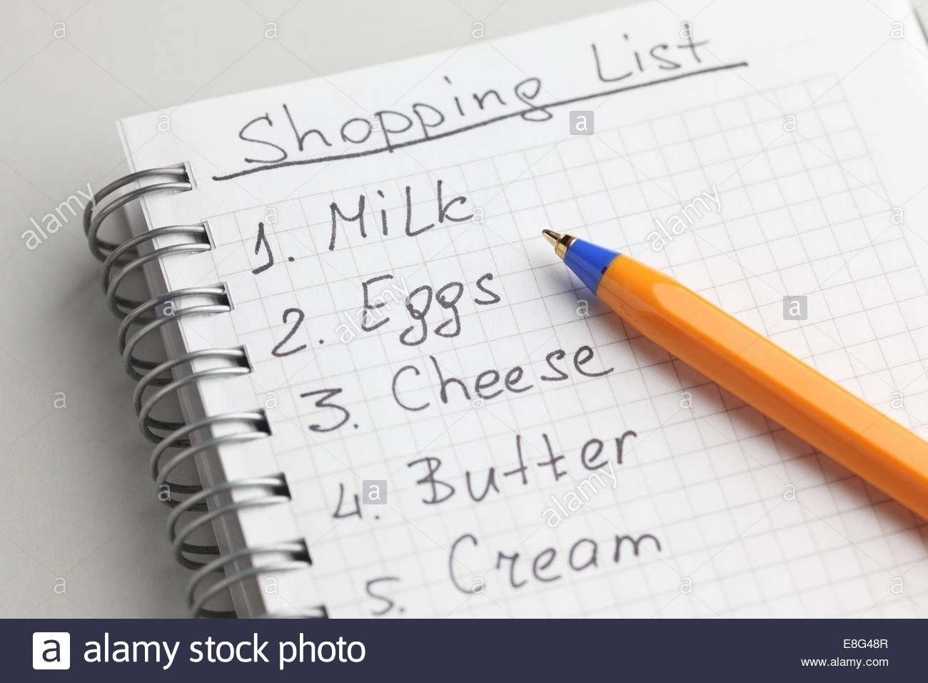 Handwritten Grocery List | World Of Example pertaining to Handwritten Shopping List 21681
