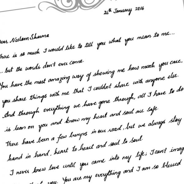 Handwritten Letter Template Fieldstation Co Within Personal Letter