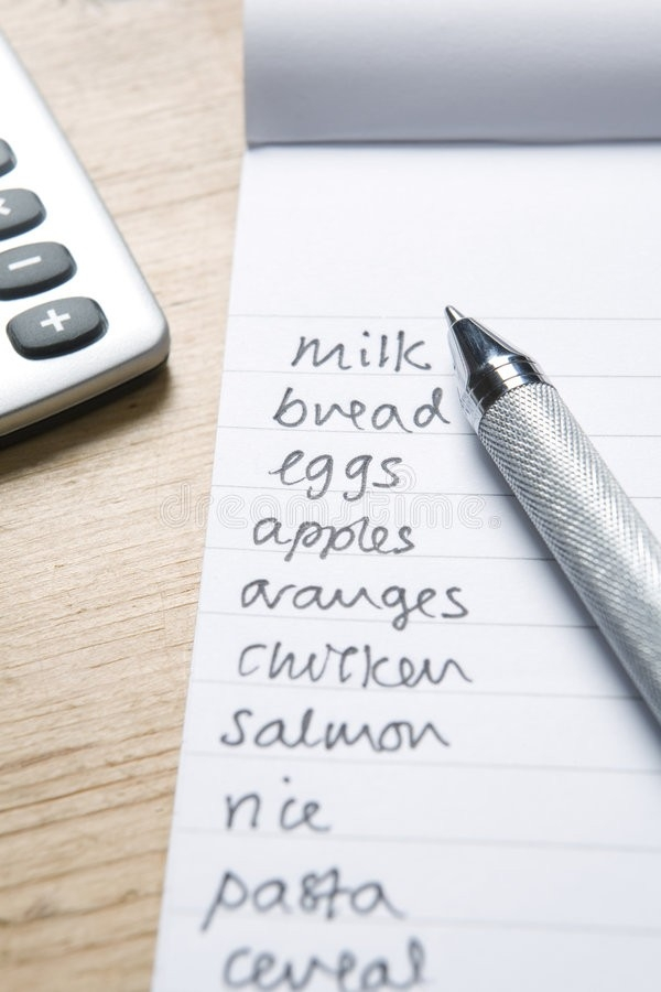 Handwritten Shopping List Stock Photo. Image Of Drink - 7518770 for Handwritten Shopping List 21681