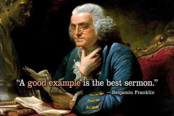 Helping Others Quotes - A Good Example Is The Best Sermon. within A Good Example Is The Best Sermon 18741