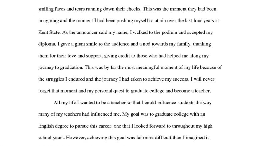 High School Personal Narrative Essay Examples For College Sample intended for Personal Narrative Examples High School 21311