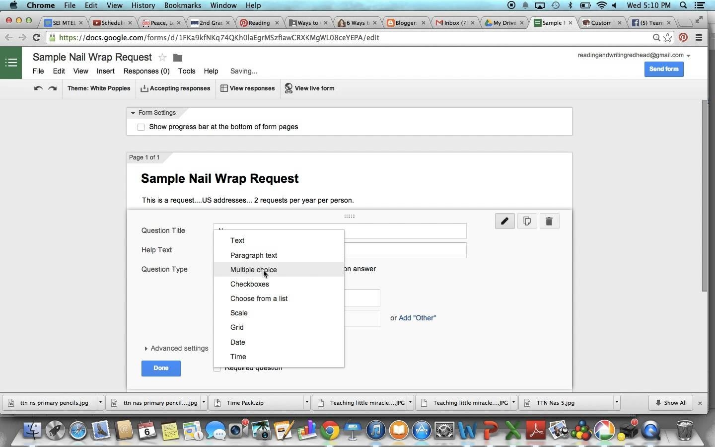 How To Create A Google Form For Sample Requests - Youtube within Google Forms Sample 24663