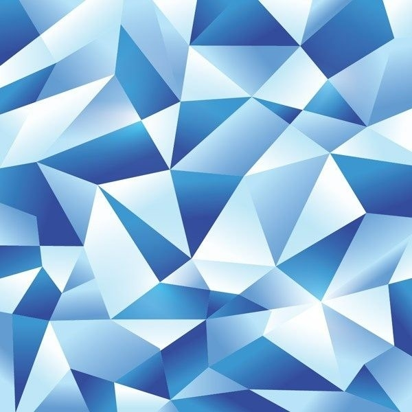 How To Create An Icy Blue Vector Geometric Design Throughout with regard to Geometric Shapes Design Blue 24503