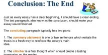 How To End A Conclusion Paragraph Examples