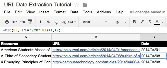 How To Extract The Date From A Url In Google Sheets (Or Any intended for Sample Image Url 19876