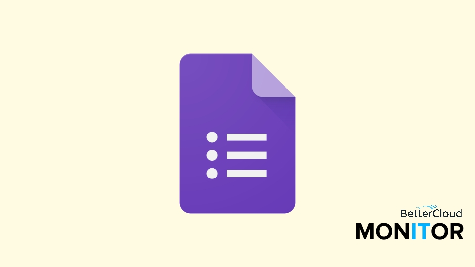 How To Insert A Logo In Google Forms - Bettercloud Monitor pertaining to Google Forms Logo 24653