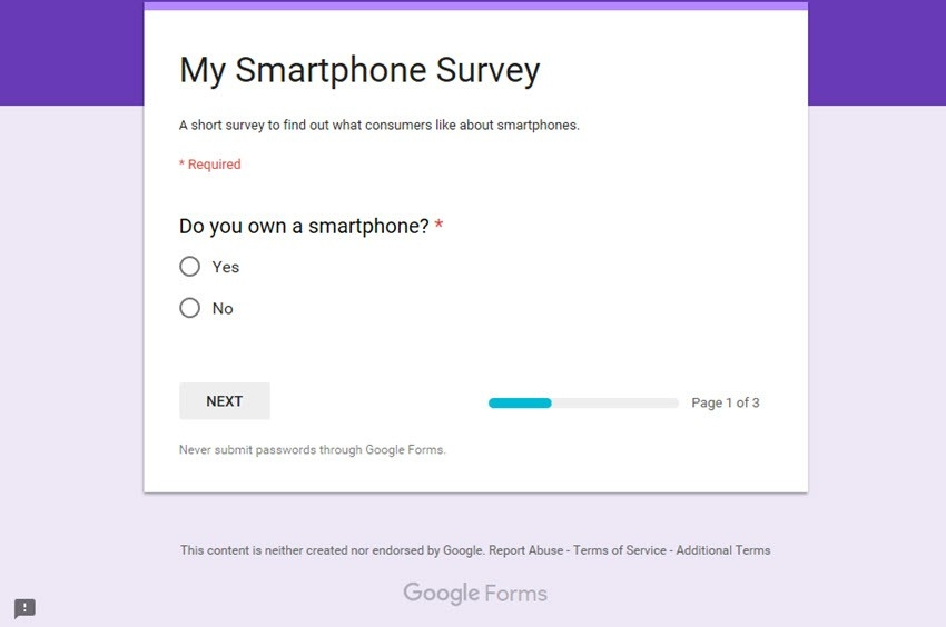 How To Make A Survey With Google Docs Forms regarding Google Forms Survey 24683