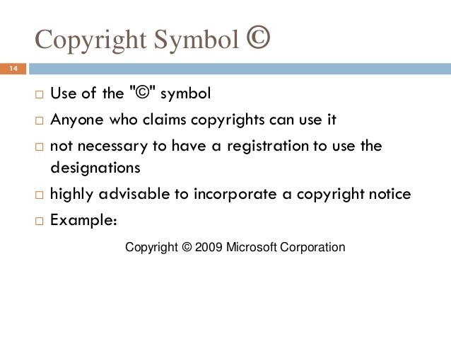 How To Use Copyright Symbol - Fieldstation.co intended for Copyright Symbol Example 20720