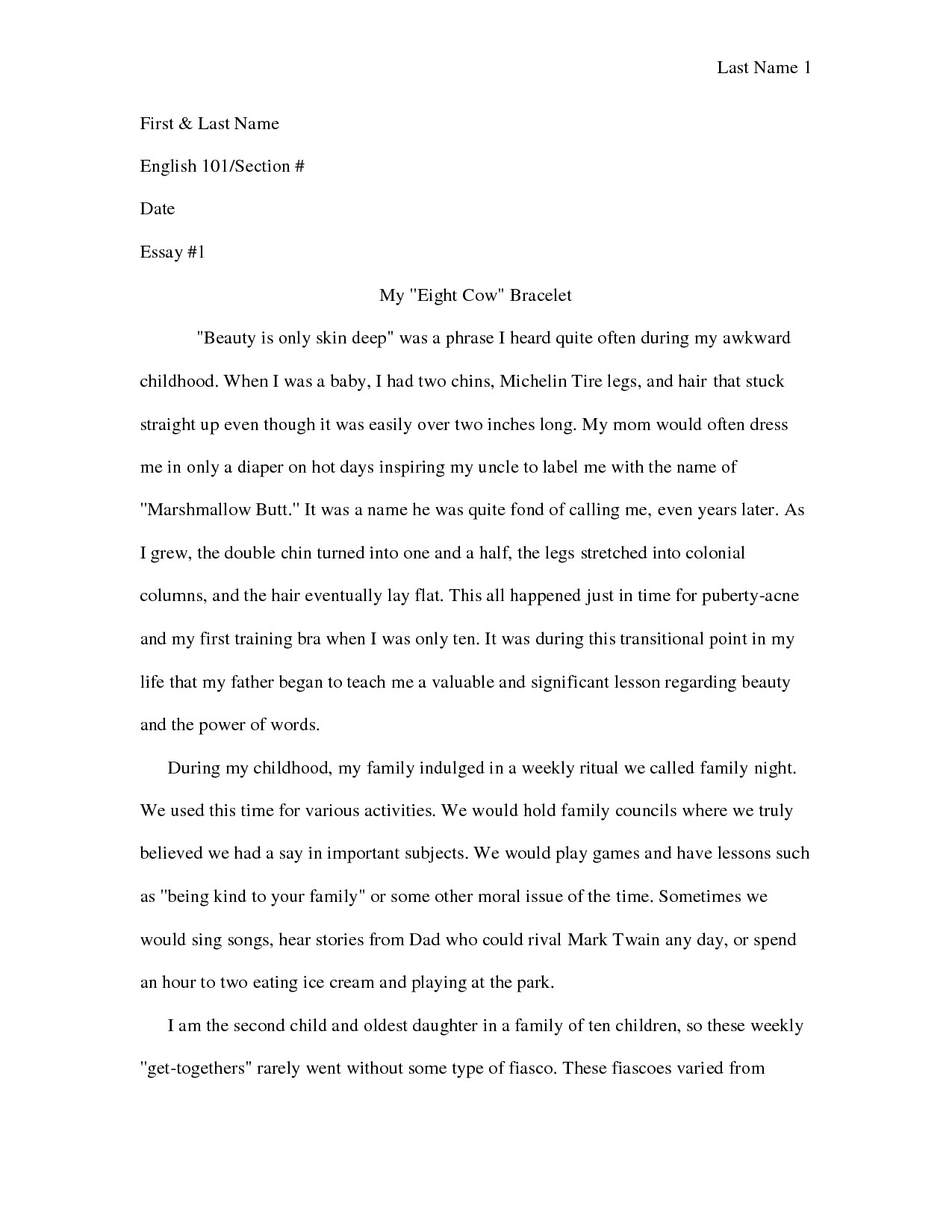 How To Write A Personal Narrative Essay - North.fourthwall.co regarding Personal Narrative Examples High School 21311