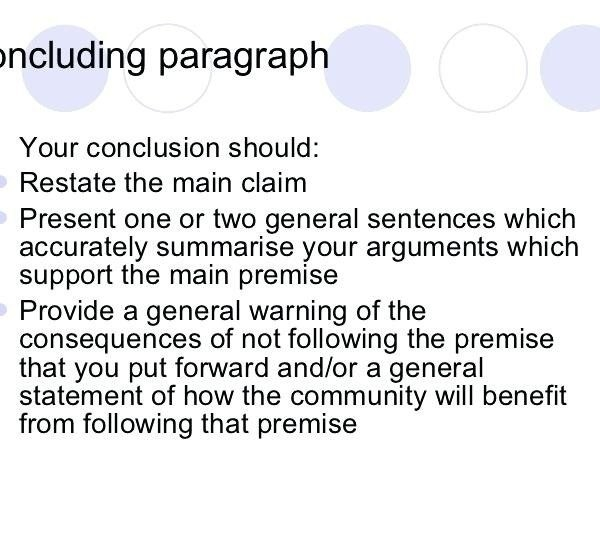 Conclusion Examples For Argumentative Essay  Examples And Forms