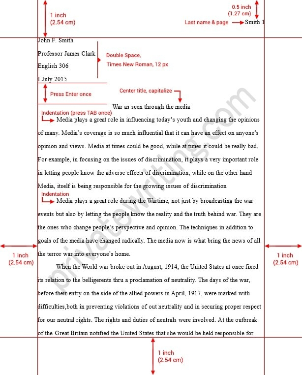 How To Write An Mla Format Essay - Asafon.ggec.co with College Essay Format 2016 23436