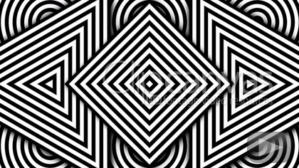 Hypnotic Rhythmic Movement Of Geometric Black And White Shapes with regard to Geometric Shapes Art Black And White 24483