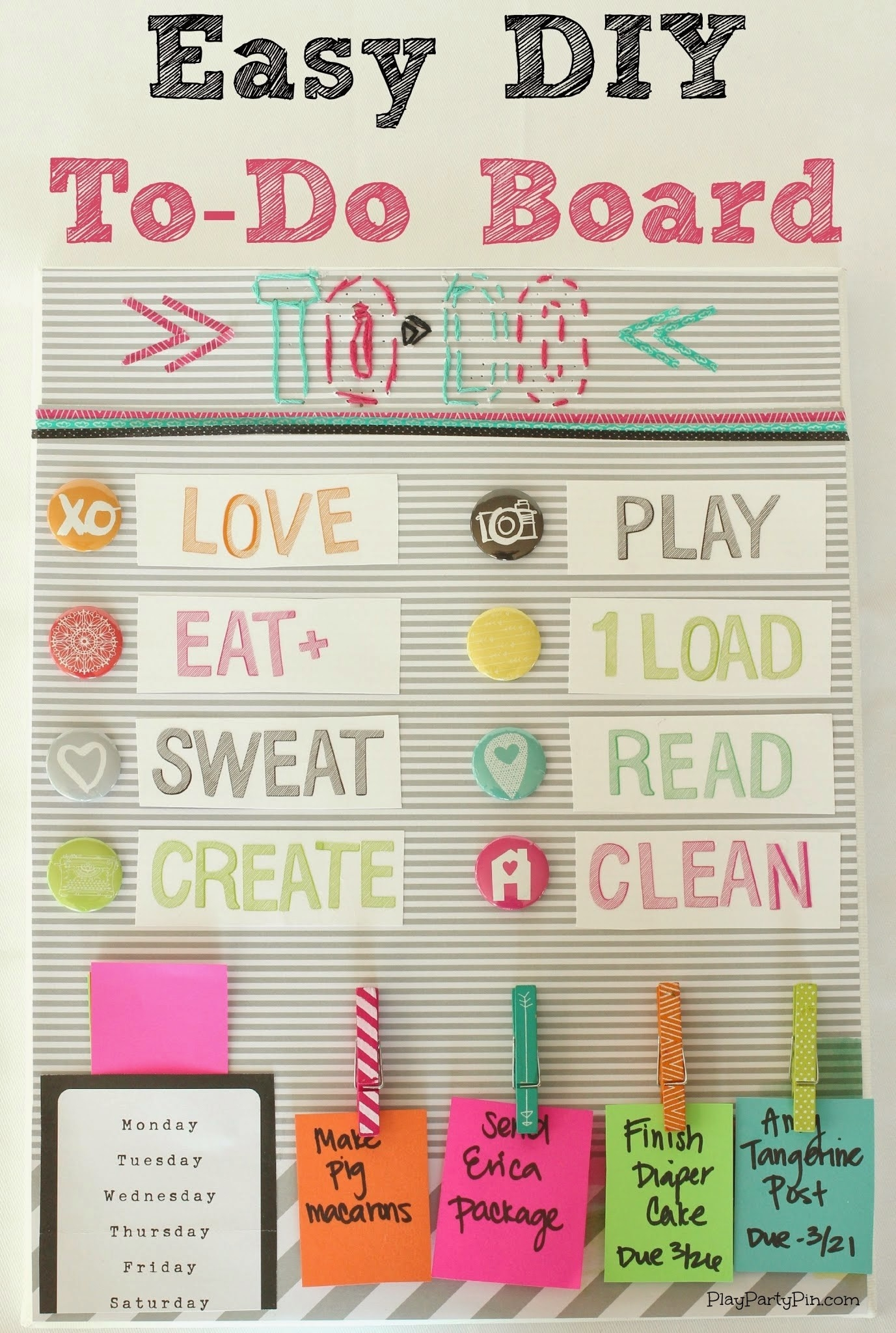 I Love This Fun Idea From Playpartypin Instead Of A To-Do List regarding Cute To Do List Ideas 21451