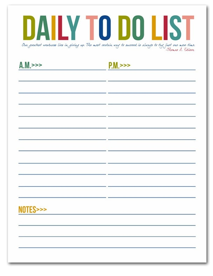 I Should Be Mopping The Floor: To Do List Free Printables with regard to Printable Daily To Do Lists 21531