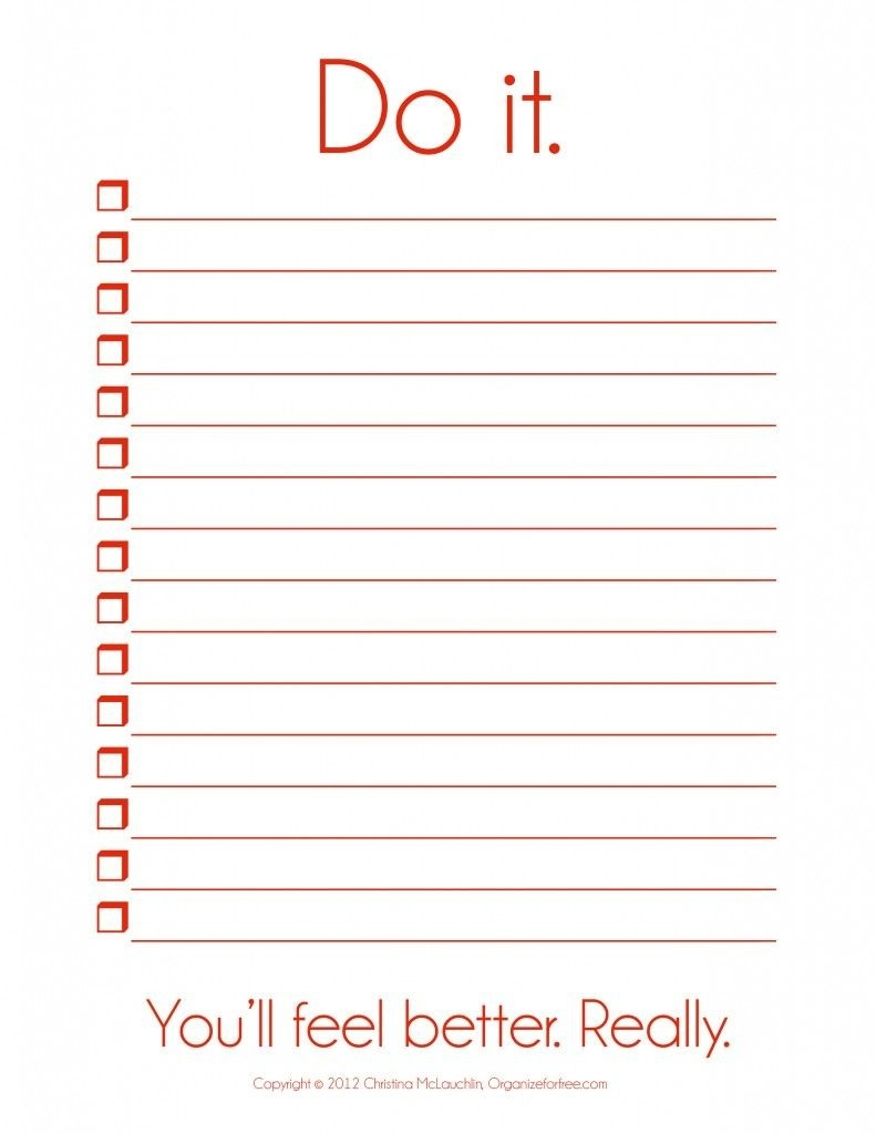 I So Need This! ~ Things To Do Template Pdf | Free Printable To Do pertaining to Things To Do List Template 24363