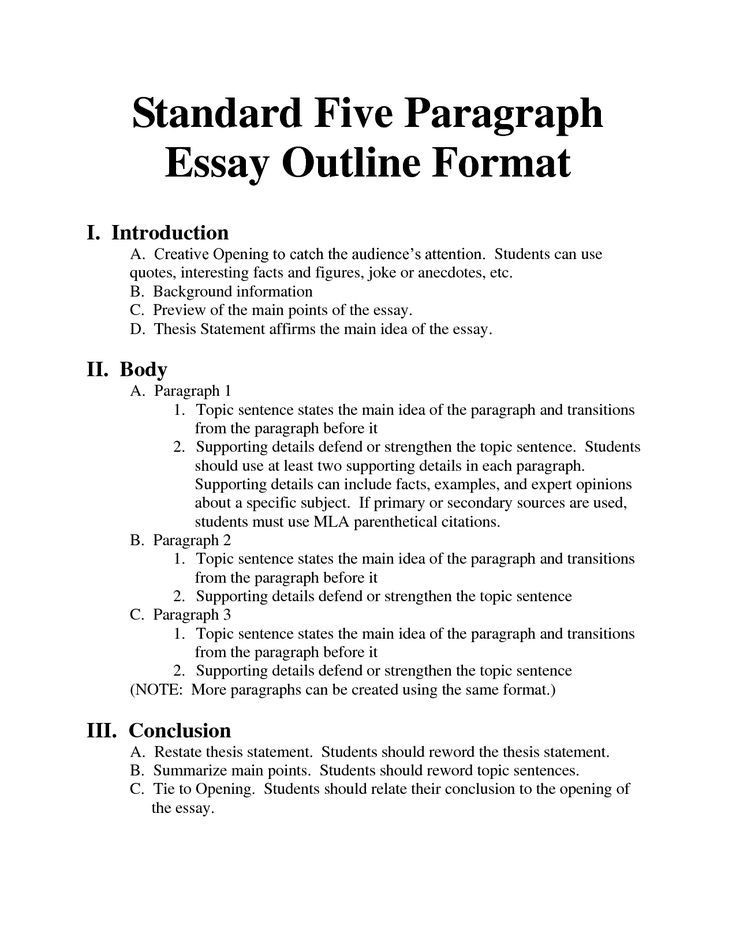 Image Result For Writing A 5 Paragraph Essay Outline | Education regarding 5 Paragraph Essay Outline Format 19593