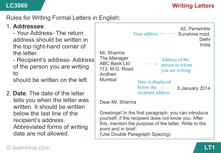 Informal Letter Format For Class 8 | Templates Corner for Informal Letter Format For Class 8 20840