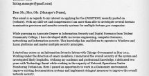 Application Letter Sample For Information Technology