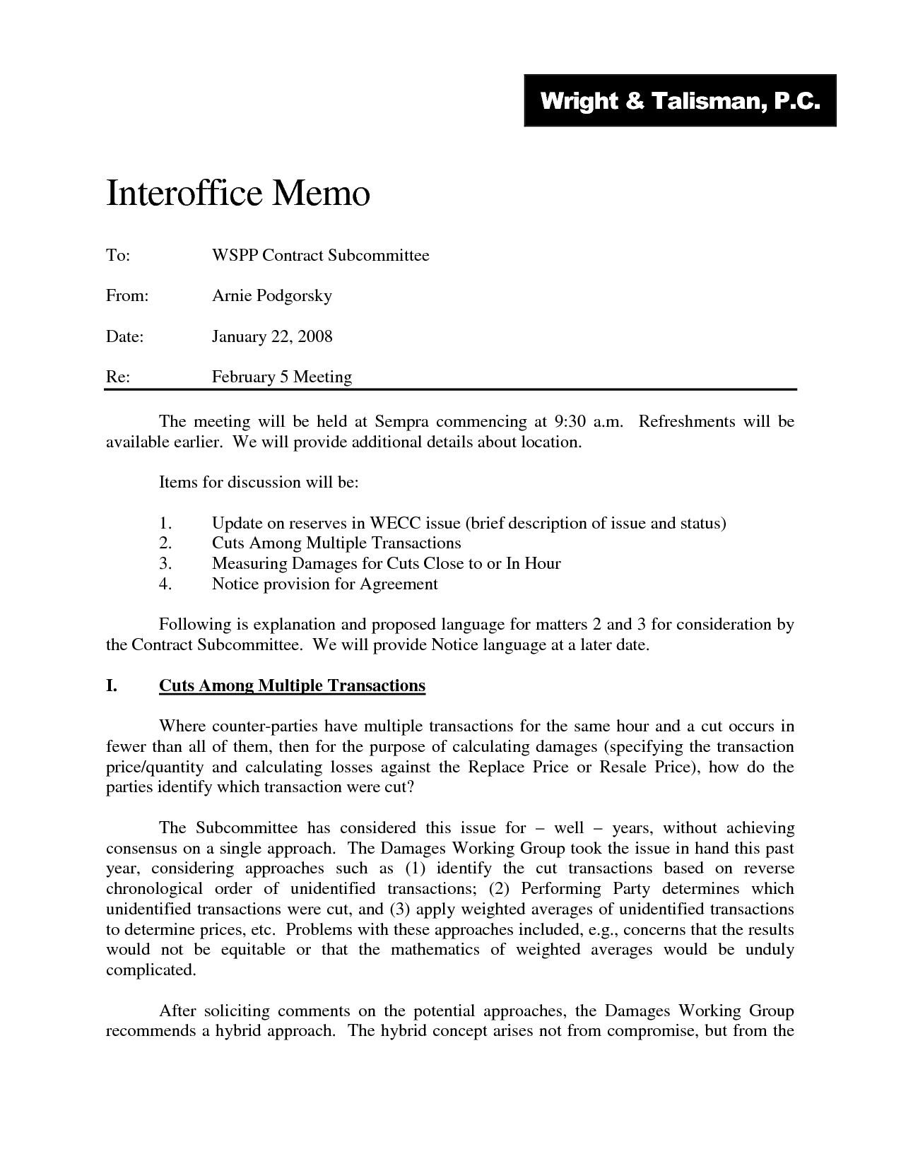Internal Office Memorandum - Asafon.ggec.co in Legal Office Memo Format 22945