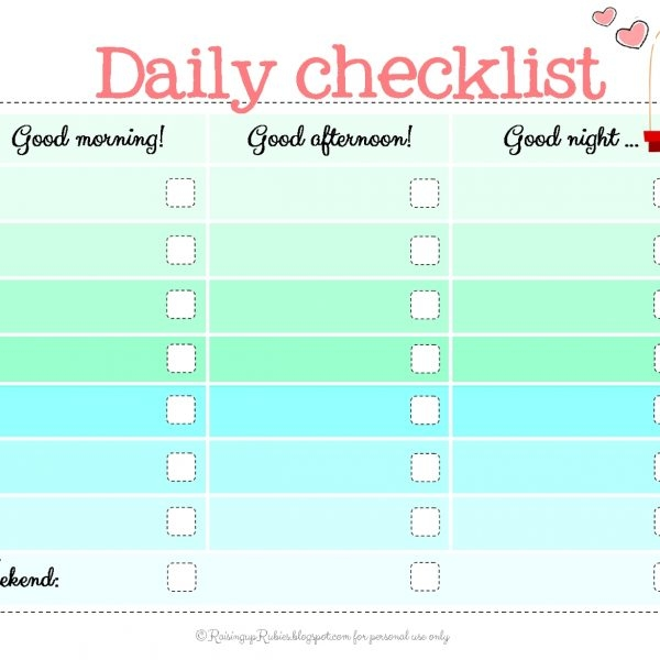 Kids Checklist Template U2013 Ins.ssrenterprises.co With Cute Blank Throughout  Cute Blank Checklist  Blank Checklist Template