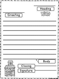 Label Parts Of A Friendly Letter Freebie | Firstgradefaculty pertaining to Friendly Letter Format 2Nd Grade 20901