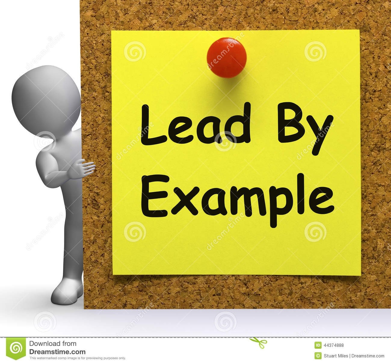 Lead By Example Note Means Mentor Or Inspire Stock Illustration with regard to Lead By Example Clipart 19694