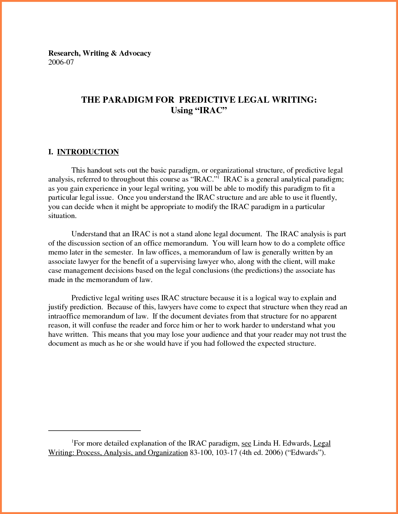 Legal Memo Examples.23417862 - Sales Report Template pertaining to Legal Memo Format Irac 22925
