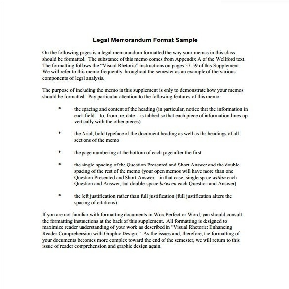 Legal Memo Format Example | World Of Example in Legal Memo Format Example 23095