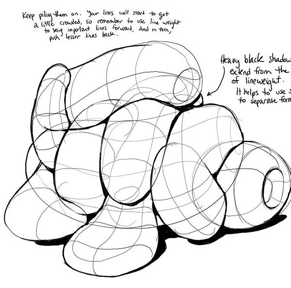 Lesson 2: Organic Forms, Contour Lines, Dissections And Form regarding Form Drawing Exercises 23726